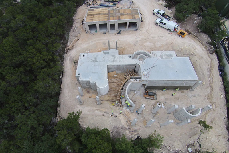 Owner designed lakeside concrete home custom icf home for Concrete house texas